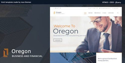 ThemeForest - Oregon v1.0 - Finance HTML Template - 23068977