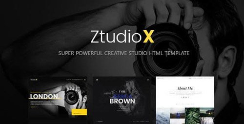 ThemeForest - Ztudio X v1.0 - Creative Studio Photography HTML Template - 23364019
