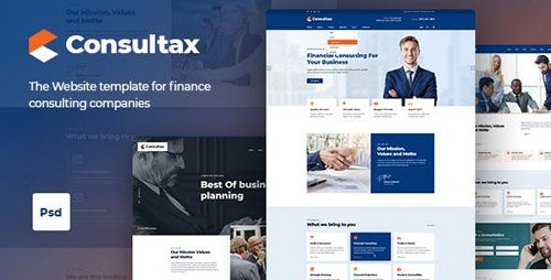 ThemeForest - Consultax v1.0 - Finance Consulting PSD Template - 22733366