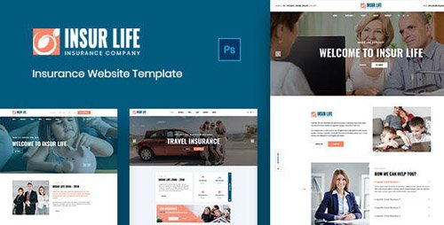 ThemeForest - Insurlife v1.0 - Insurance Agency PSD Template - 22960974