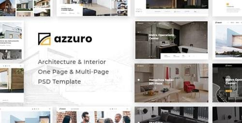 ThemeForest - Azzuro v1.0 - Architecture Interior PSD Template - 22694967