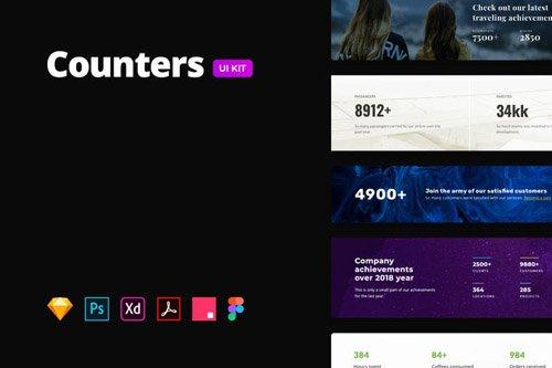 Counters & Achievements - Multi-format UI Kit