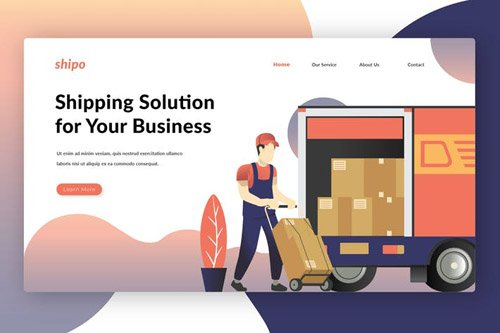 Shipping Solutions - Landing Page