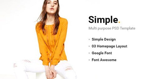 ThemeForest - Simple v1.0 - PSD Template - 18328939