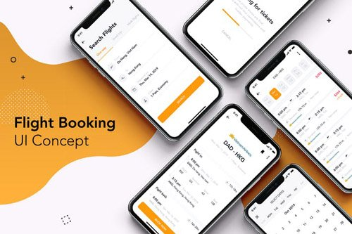 5 Flight Booking UI Concept