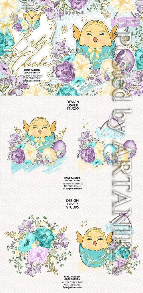 Baby Chicken Easter design