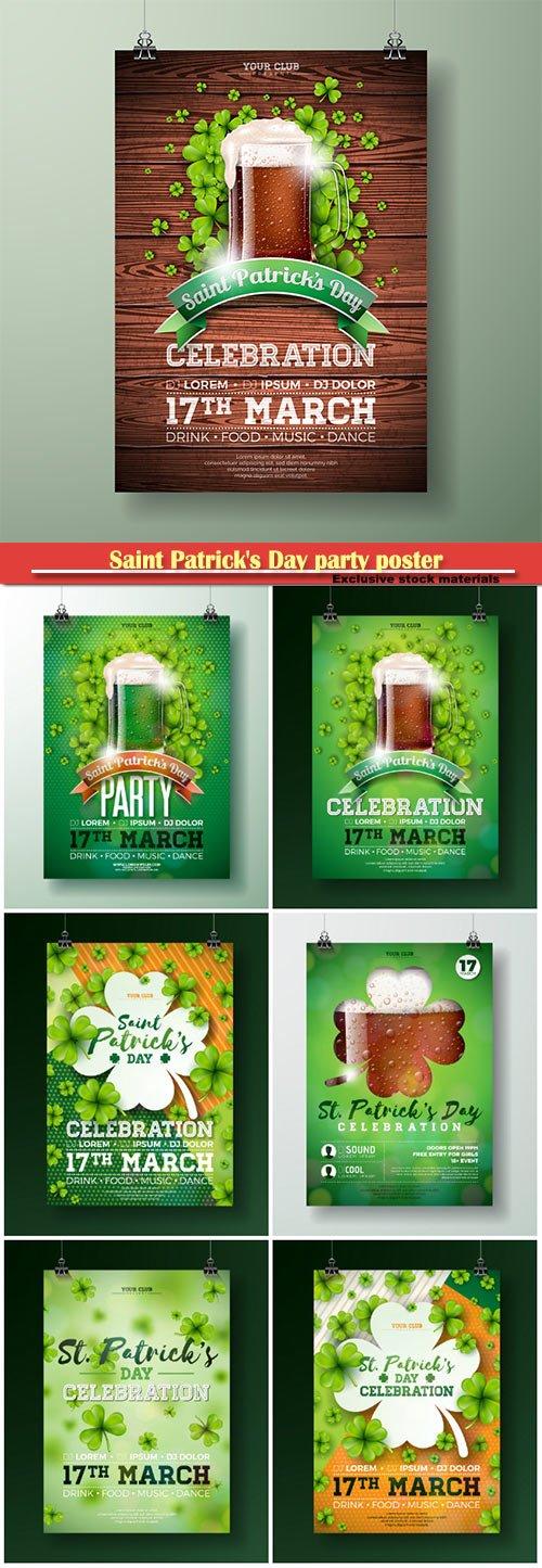 Saint Patrick's Day party flyer Illustration holiday design
