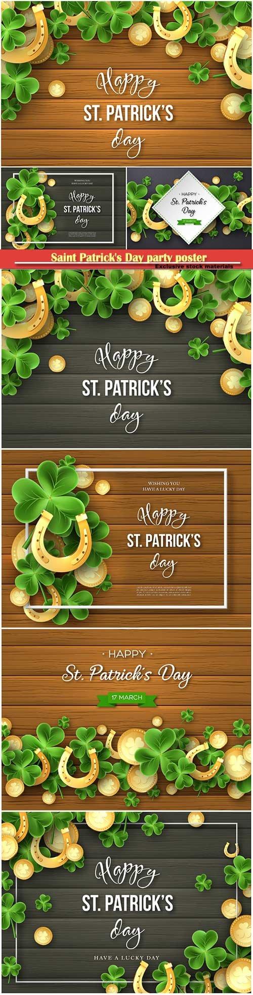 St.Patricks Day background greeting holiday design