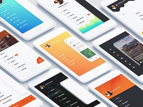 Social App Sidebar