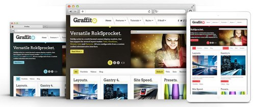 RocketTheme - Graffito v1.12 - Joomla Theme