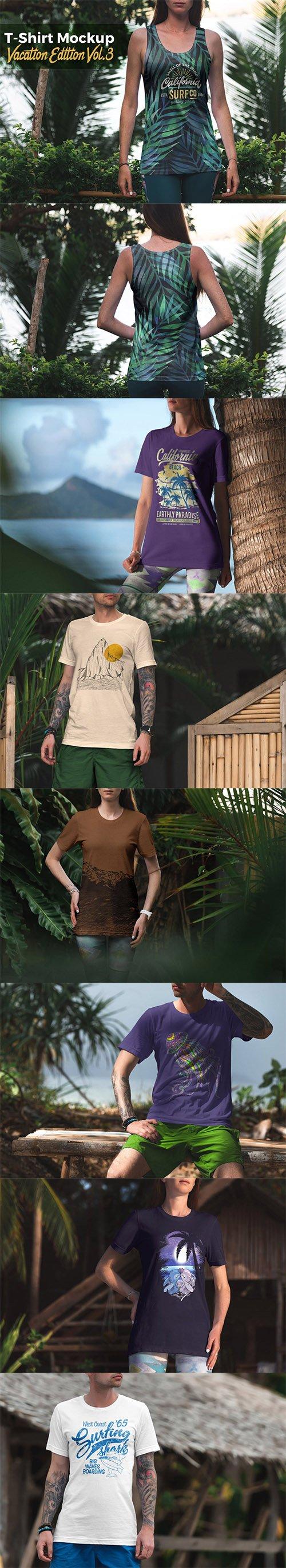 T-Shirt Mockup Vacation Edition Vol. 3