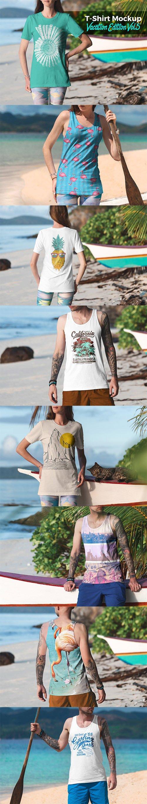 T-Shirt Mockup Vacation Edition Vol. 5