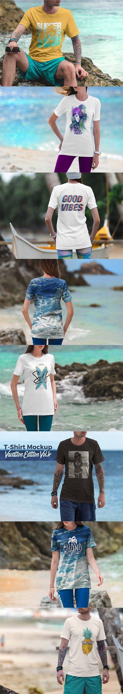 T-Shirt Mockup Vacation Edition Vol. 4