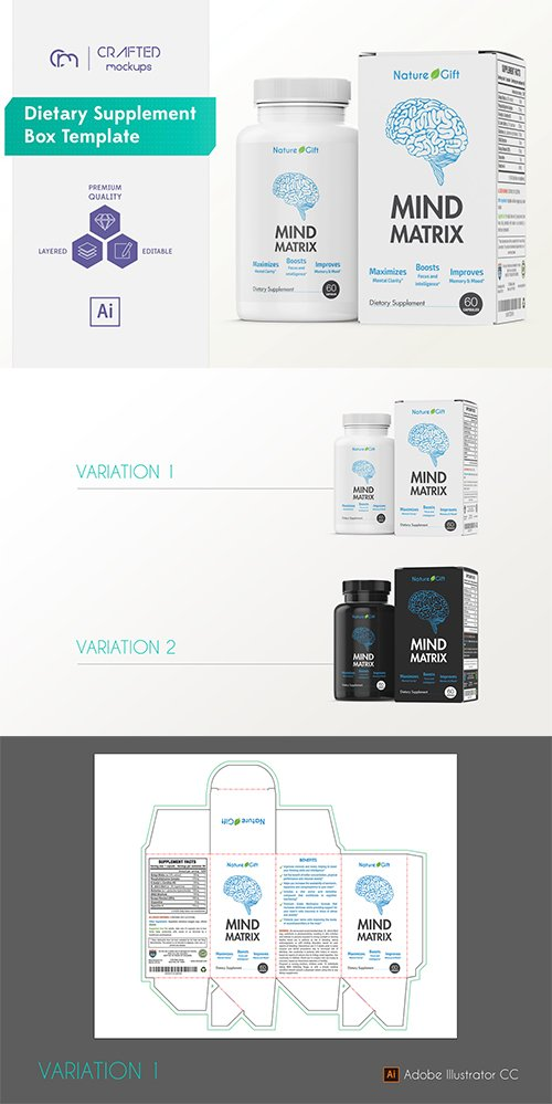 Dietary Supplement Box Template