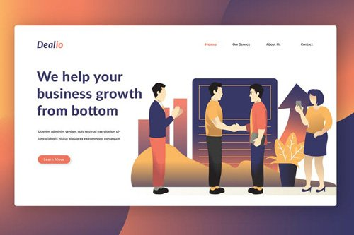 Business Management - Landing Page