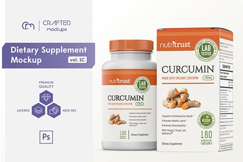 Dietary Supplement Mockup v. 1C