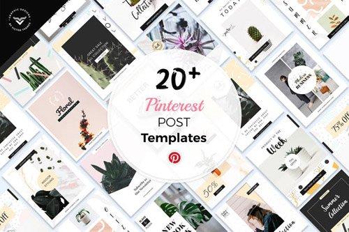 Pinterest Social Media Templates - 8M42B9