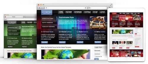 RocketTheme - Hybrid v1.11 - Joomla Theme