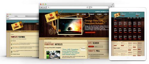 RocketTheme - Grunge v1.6 - Joomla Theme
