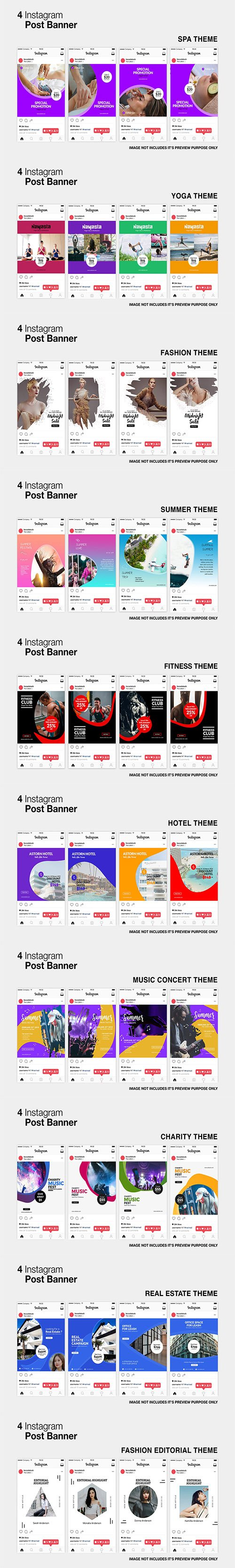 Instagram Posts Banners Pack