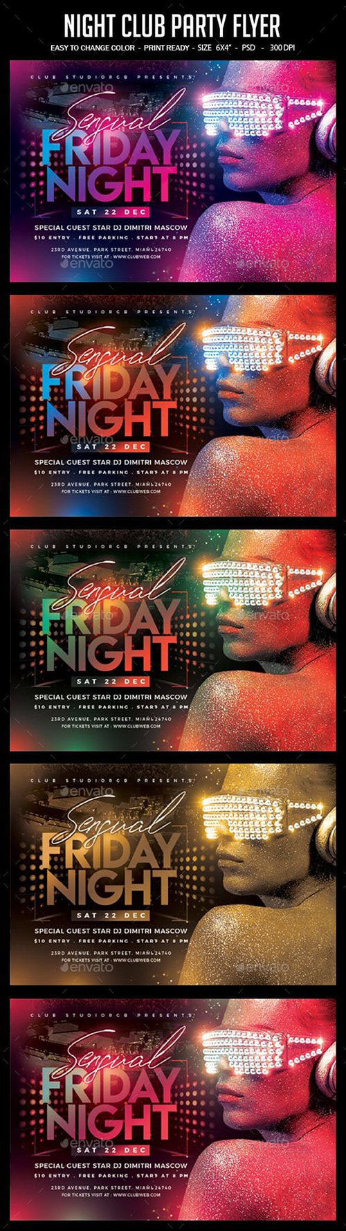 GraphicRiver - Night Club Party Flyer 23361972