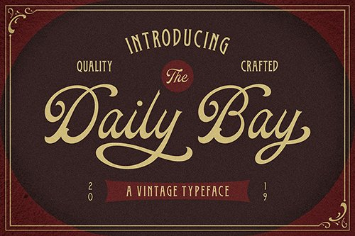 Daily Bay Font Duo + Extras