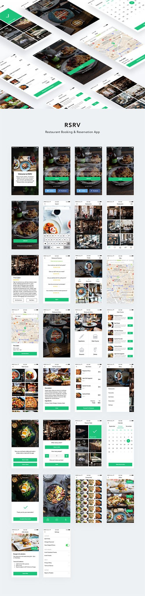 RSRV - Restaurant Booking and Reservation App