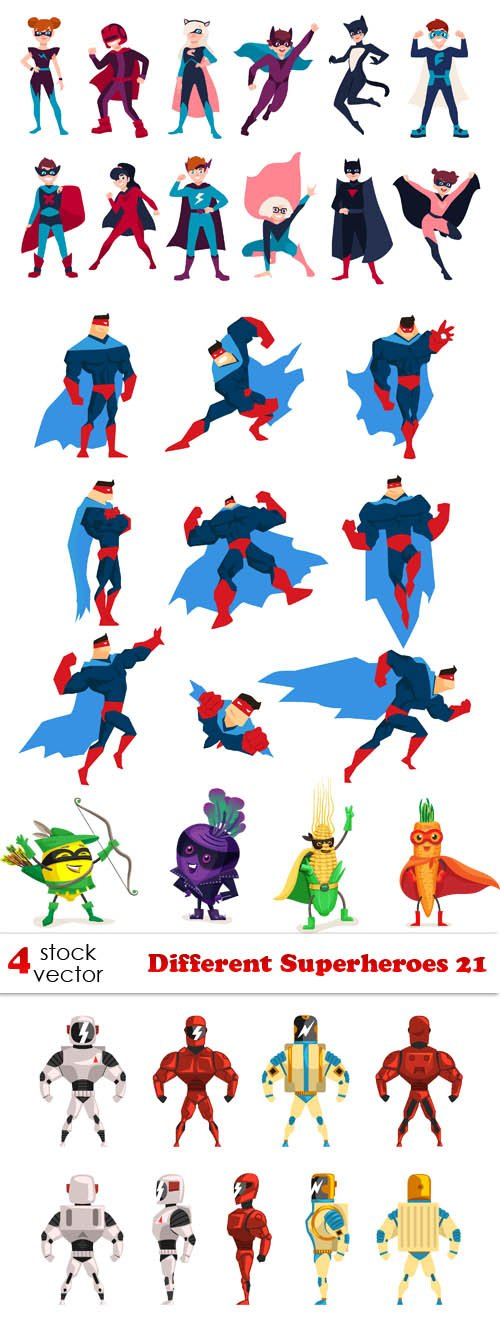 Vectors - Different Superheroes 21