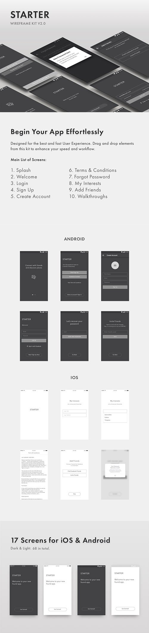 Starter Wireframe Kit v2.0