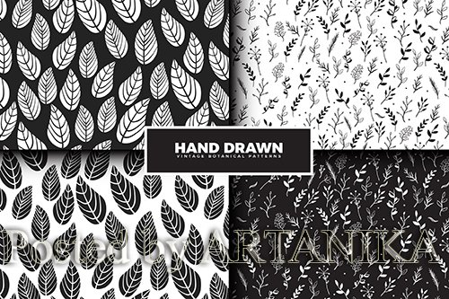Hand Drawn Leaves Pattern Collection