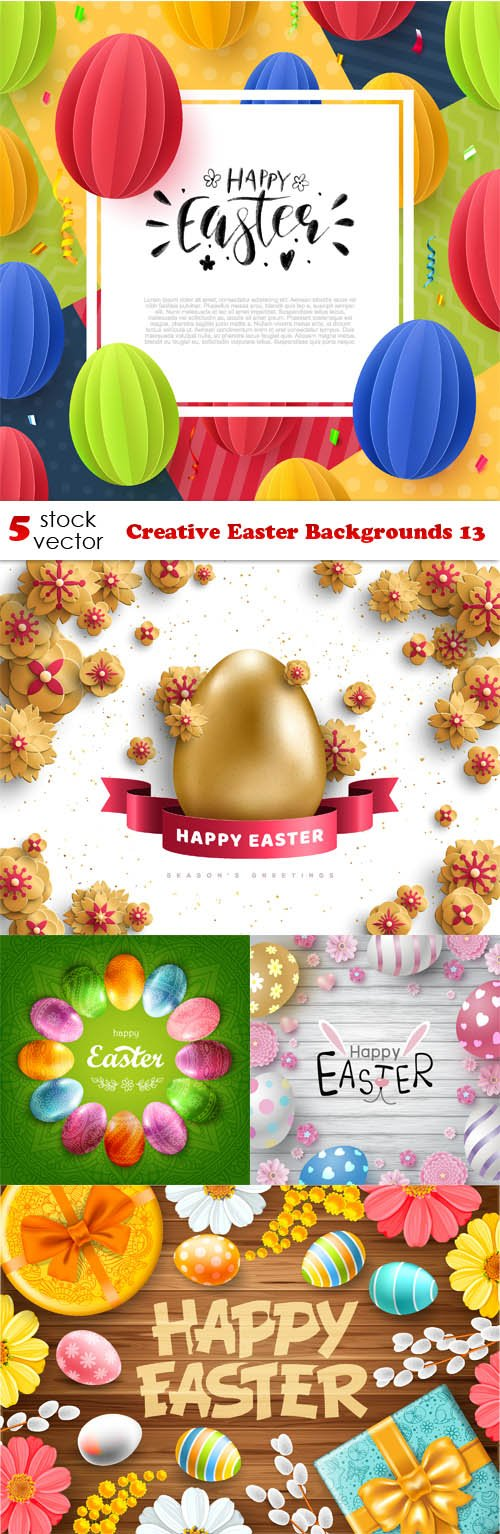Vectors - Creative Easter Backgrounds 13
