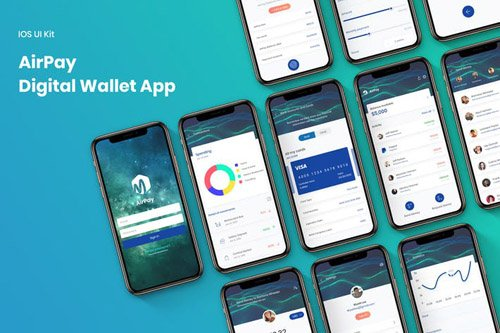 Digital Mobile Wallet UI Kit - FH