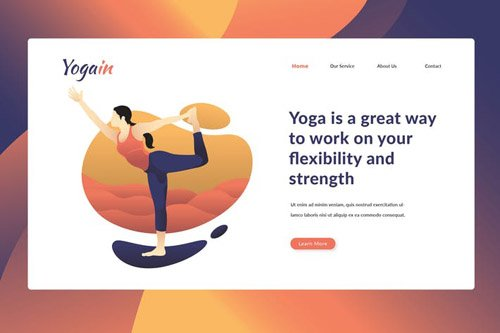 Yoga Training Course - Landing Page
