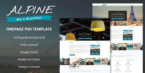 ThemeForest - Alpine v1.0 - Bed and Breakfast Onepage PSD Template - 18668943