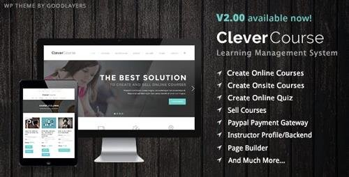 ThemeForest - Clever Course v2.11 - Learning Management System Theme - 8645312