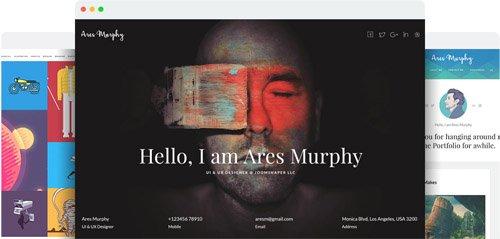 JoomShaper - Ares Murphy v1.8 - Premium Joomla Template for Portfolio, Blog and Resume Sites