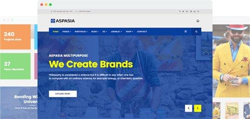 JoomShaper - Aspasia v2.1 - Responsive Joomla Template for Small Business and Portfolios Sites