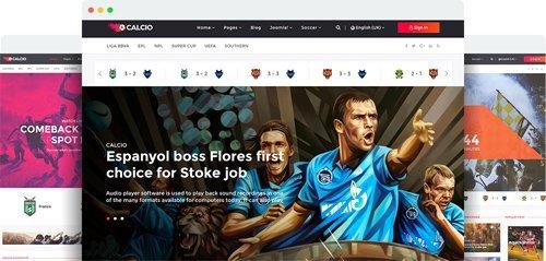 JoomShaper - Calcio v1.1 - Joomla Template for Soccer News & Football Club Websites