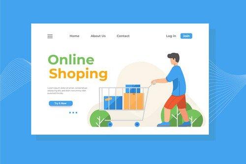 Online Shopping Landing Page Illustration