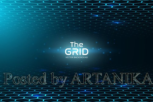 Abstract Grid Vector Background