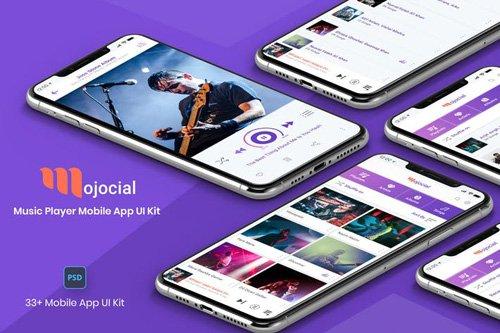 Mojocial-Music Player Mobile App UI Kit