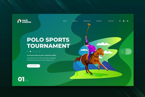 Polo Sports Web PSD and AI Vector Template