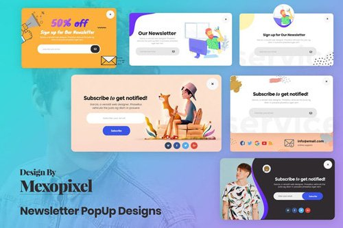 Creative Newsletter Email Pop-Up Designs Templates