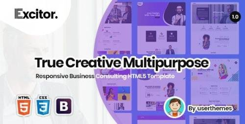 ThemeForest - Excitor v1.0 - Responsive Business Consulting HTML5 Template - 23382218