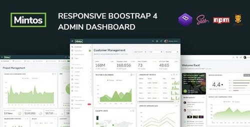 ThemeForest - Mintos - Responsive Bootstrap 4 Admin Dashboard Template - 23342415
