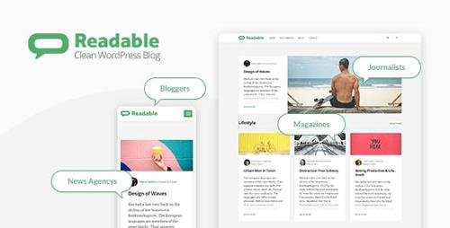 ThemeForest - Readable v2.3.1 - Blogging WordPress Theme Focused on Readability - 19633402 - NULLED