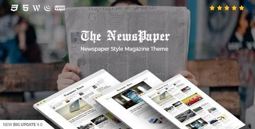 ThemeForest - NewsPaper v4.0 - News & Magazine WordPress Theme - 16131379