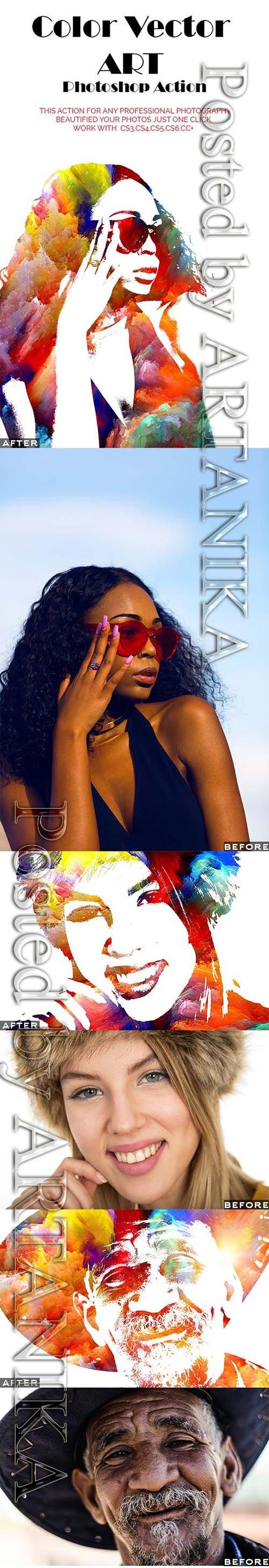 Color Vector ART Photoshop Action 21390337