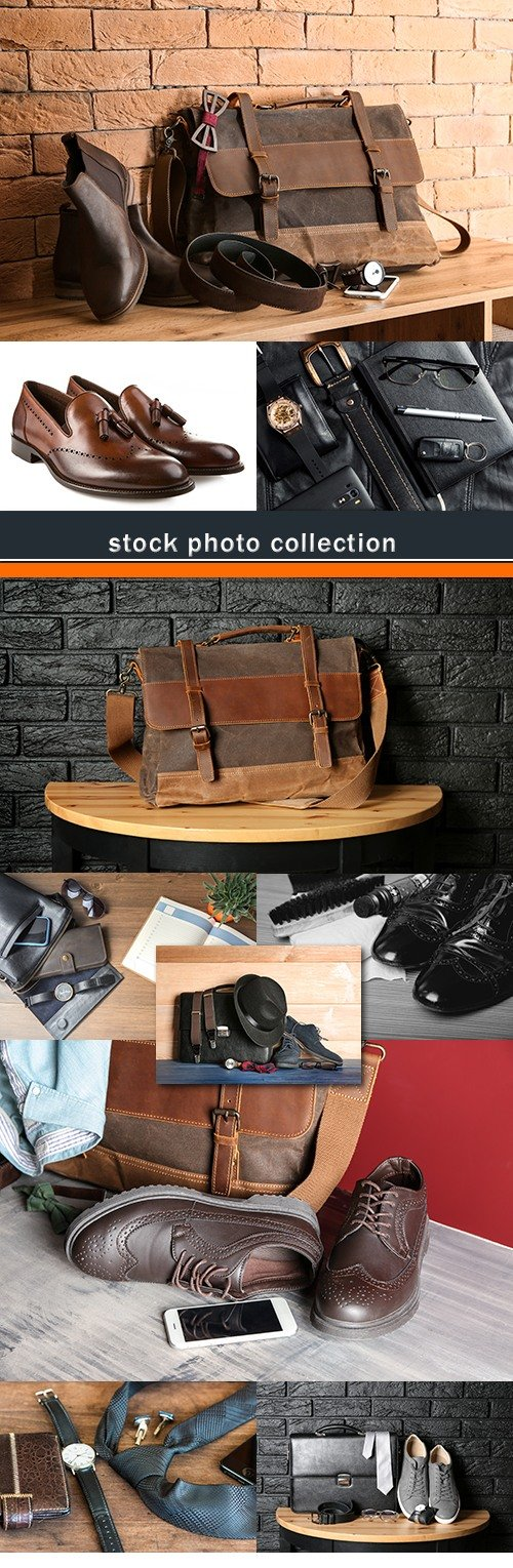 Shoes bag tie stylish men's accessories photo