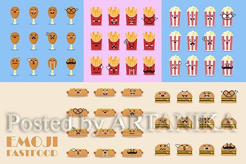 Emoji Fast Food Icon